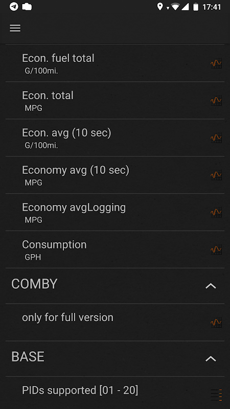 inCarDoc   ELM327 OBD2 7.1.0 Screen 3