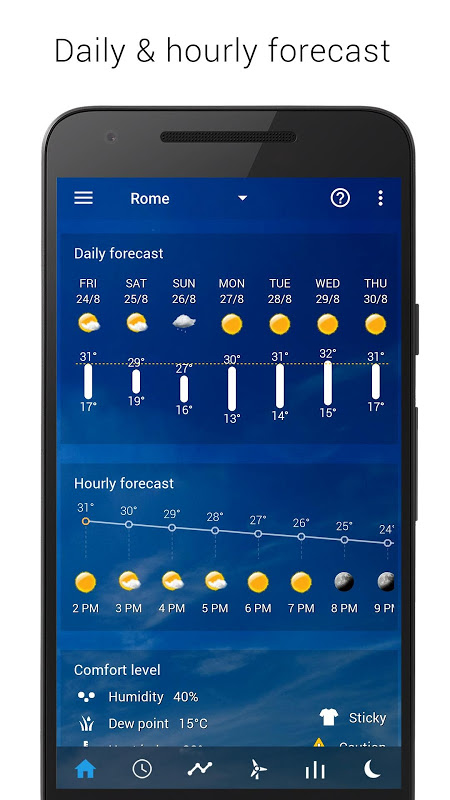 Android Transparent clock weather Premium Screen 16