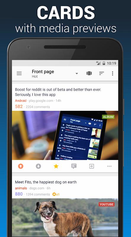 Boost for reddit 1.9.0 Screen 1