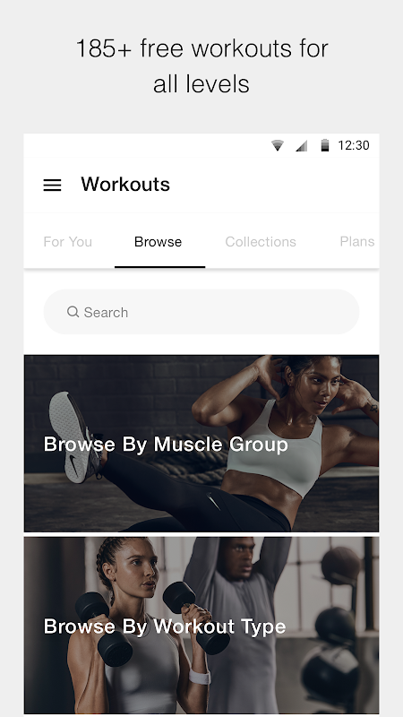 Nike Training Club - Workouts & Fitness Plans 6.4.1 Screen 1