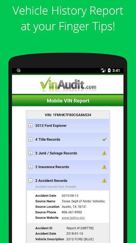 Vindecoded Vin Check History Used Car Value 5 6 2 0 Apk