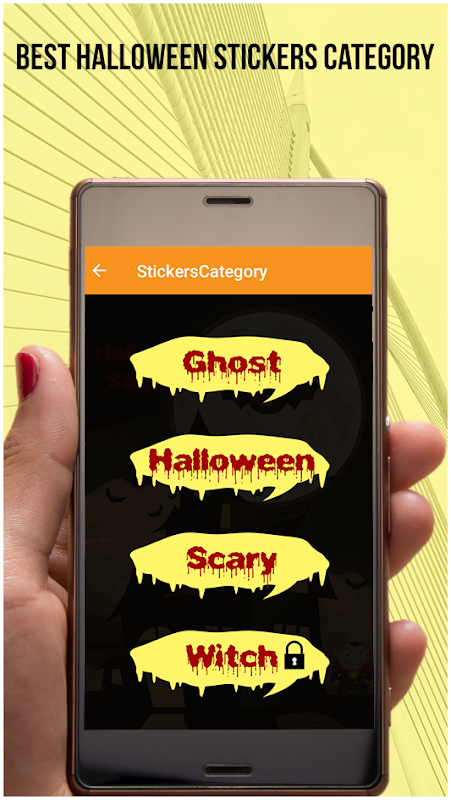 Android Halloween Stickers For Whatsapp Screen 2
