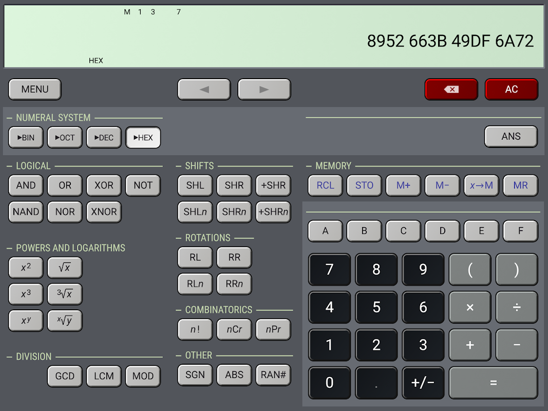 Android HiPER Calc Pro Screen 4
