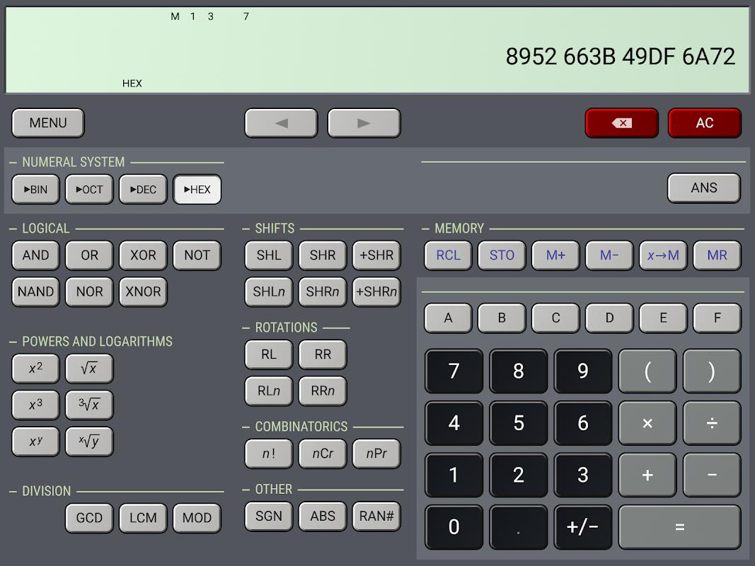 HiPER Scientific Calculator 6.1 Screen 12