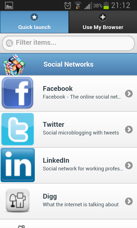 Android Social Networks Mobile Screen 6