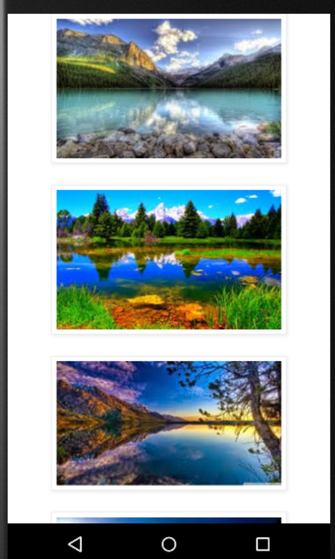 Android Beautiful Lake View Screen 1