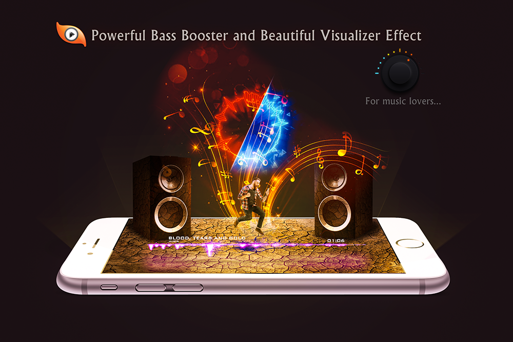 Android S Music Player 3D Screen 3