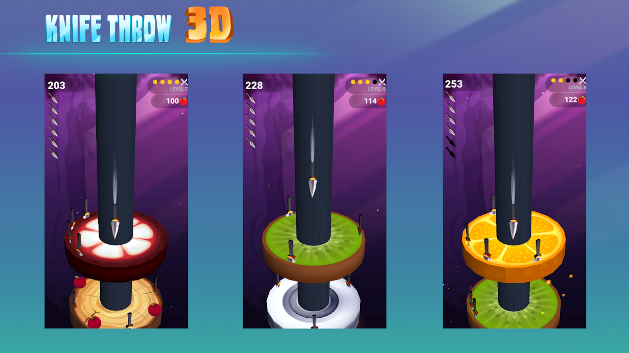 Android Knife Throw 3D Screen 3