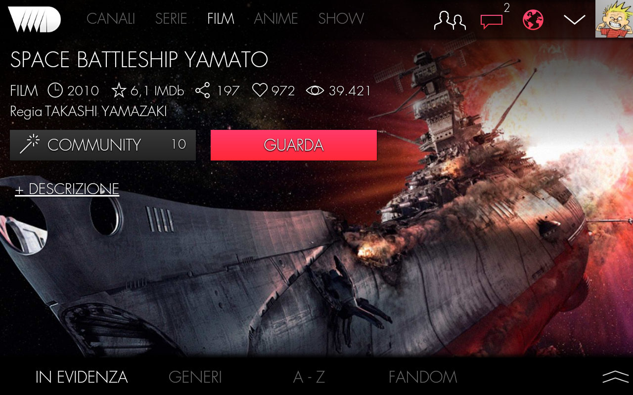 VVVVID 5.4.9 Screen 1