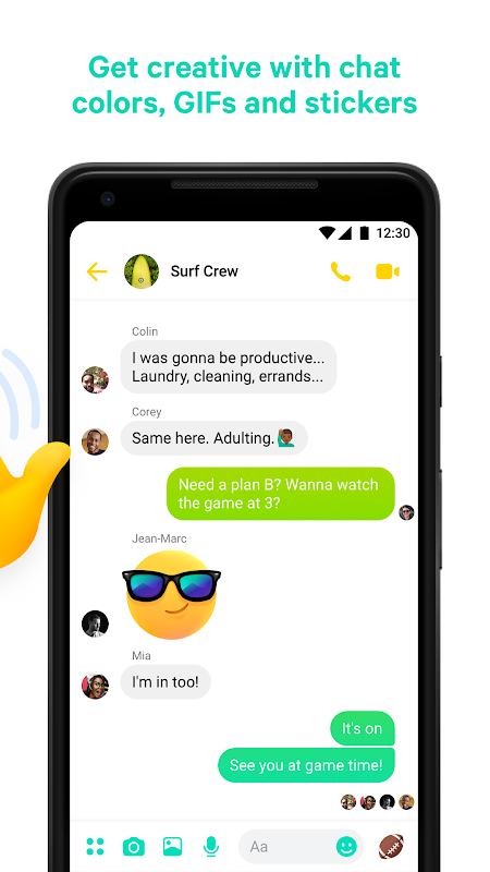 Messenger – Text and Video Chat for Free 196.1.0.40.99 Screen 2