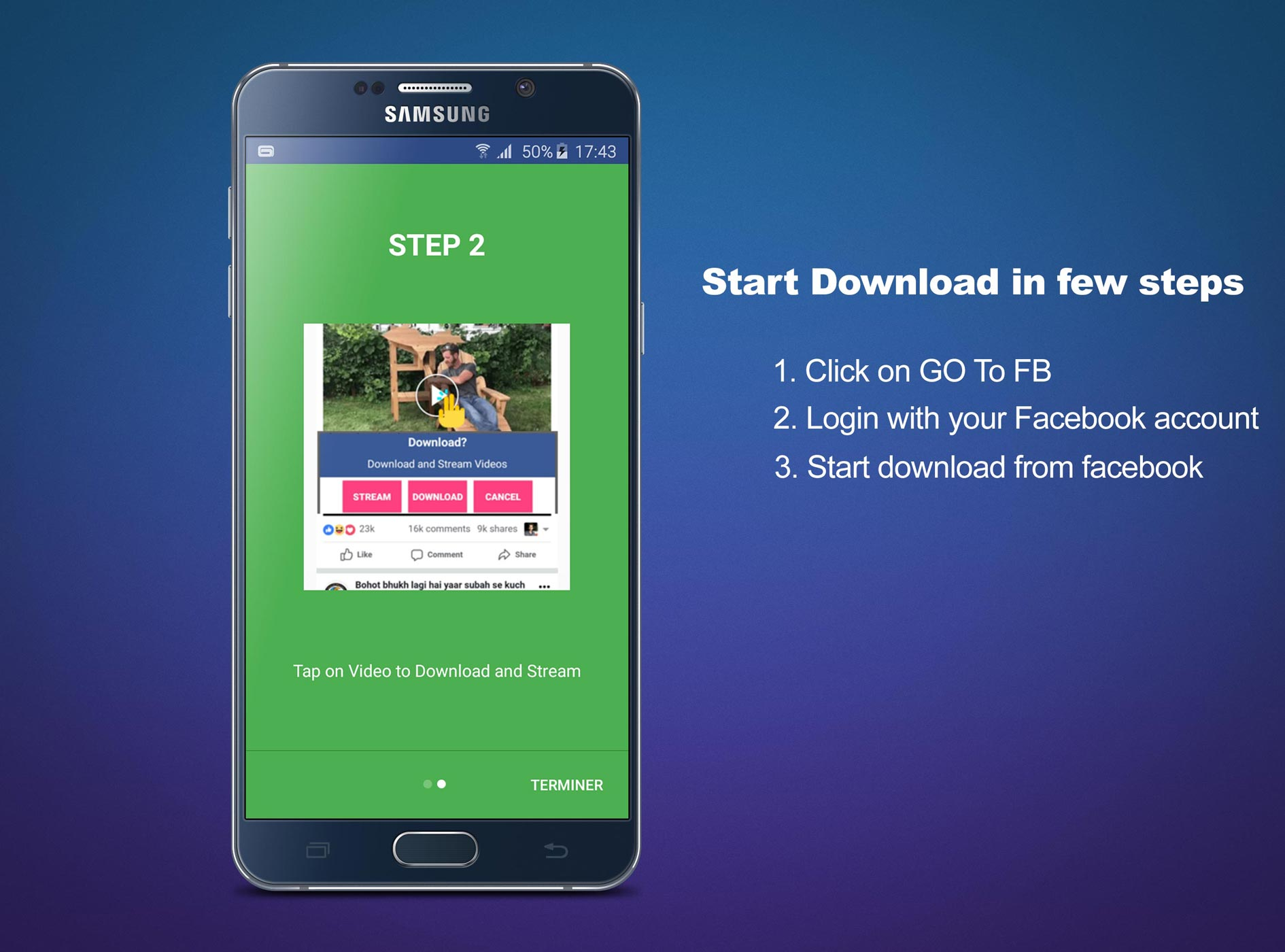 Android Video Downloader for Facebook Screen 3