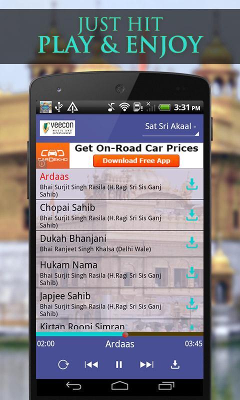 Sat Sri Akaal - Divine Shabad Gurbani 1.0.0.2 Screen 1