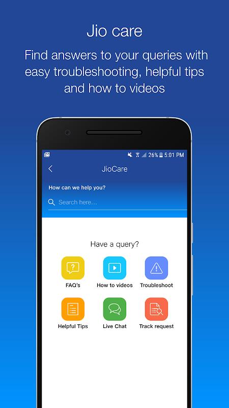 Android MyJio Screen 7