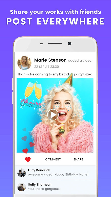 Android Kruso - Video Editor & Story Editor Screen 2