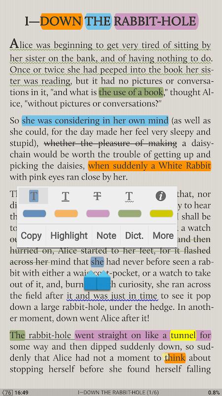 Moon+ Reader Pro 5.0.2 Screen 2