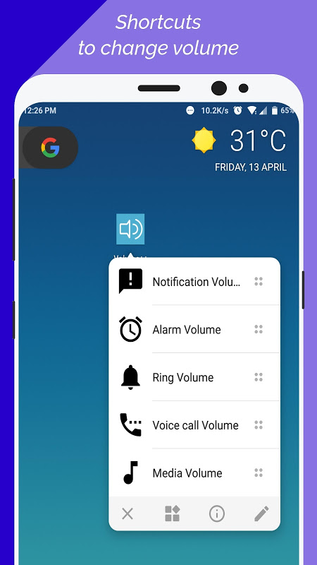 Android Volume++ (Change volume from Notification) Screen 1