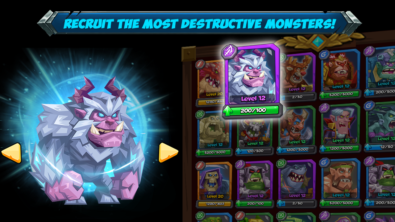 Android Tactical Monsters Rumble Arena -Tactics & Strategy Screen 1