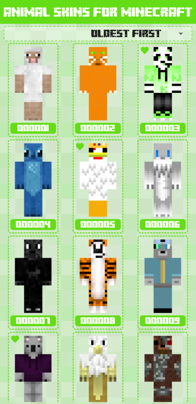 Animal Skins for Minecraft 1 0 0 018 APK Download by cpp klimbo