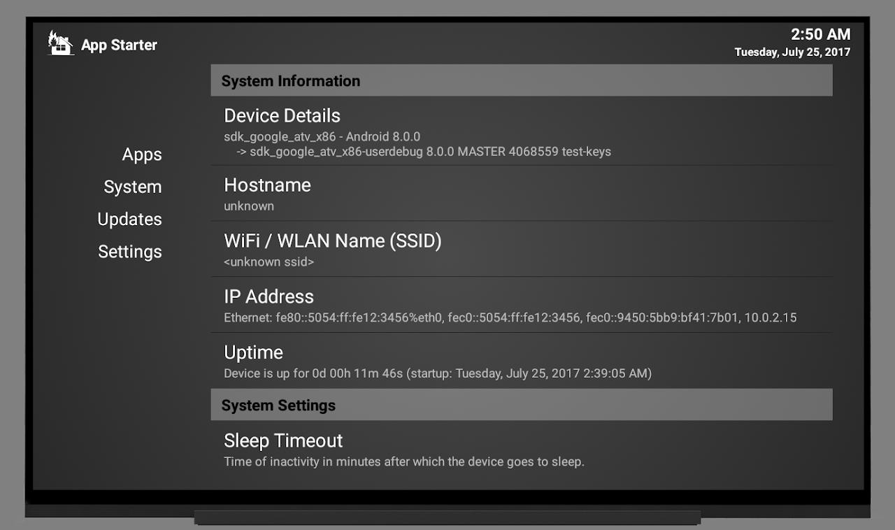 App Starter 4.0.1 Screen 1