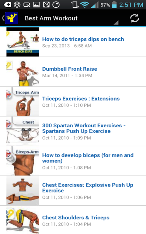 Android Workout Trainer Screen 13