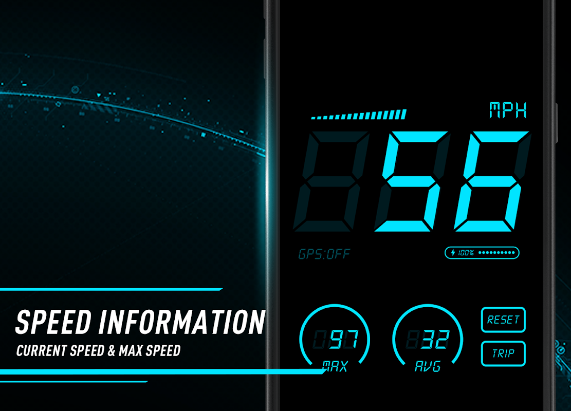 Android Hud Speedometer - Car Speed Limit App with GPS Screen 1