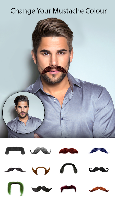 Man Photo Editor : Man Hair style ,mustache ,suit 1.2 Screen 2