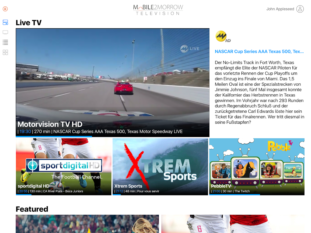 M2M TV - TV Box & Android TV 1.7 Screen 1