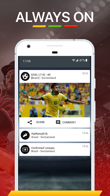 Android 365Scores - World Cup 2018 Live Scores Screen 11