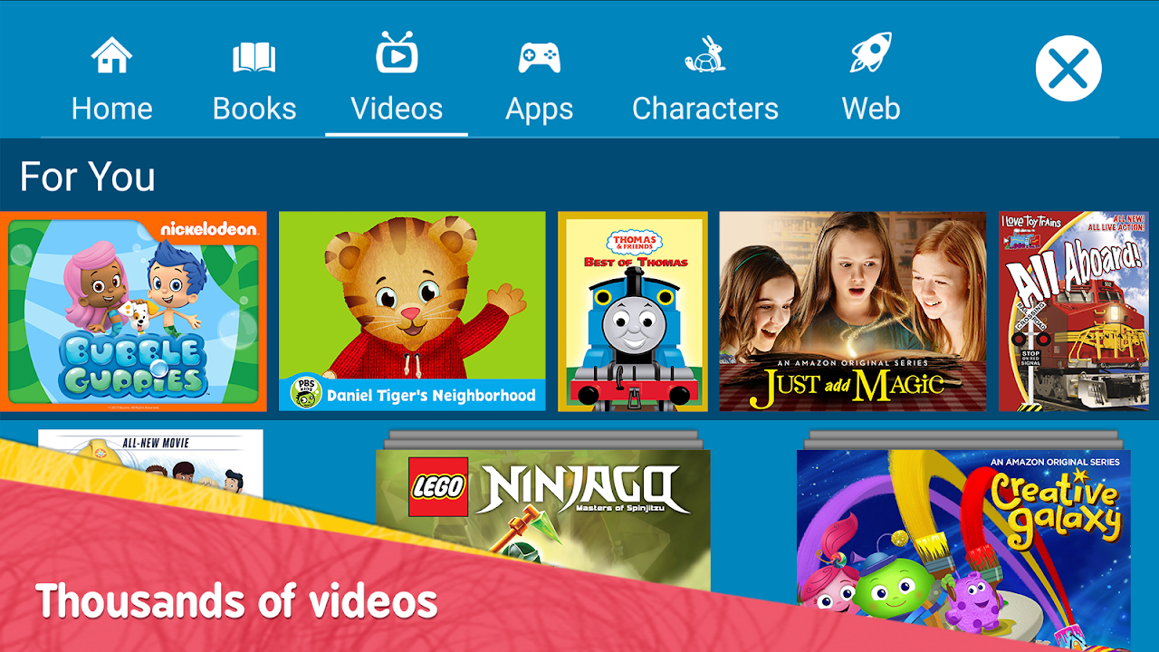 Amazon FreeTime – Kids' Videos, Books, & TV shows FreeTimeApp-fireos_v3.14_Build-1.0.203601.0.11091 Screen 2