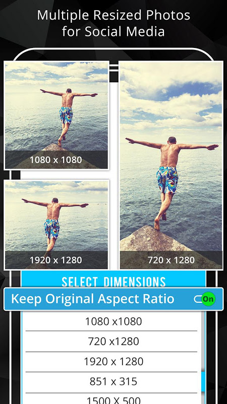 Android Photo Resizer: Crop, Resize, Share Images in Batch Screen 2