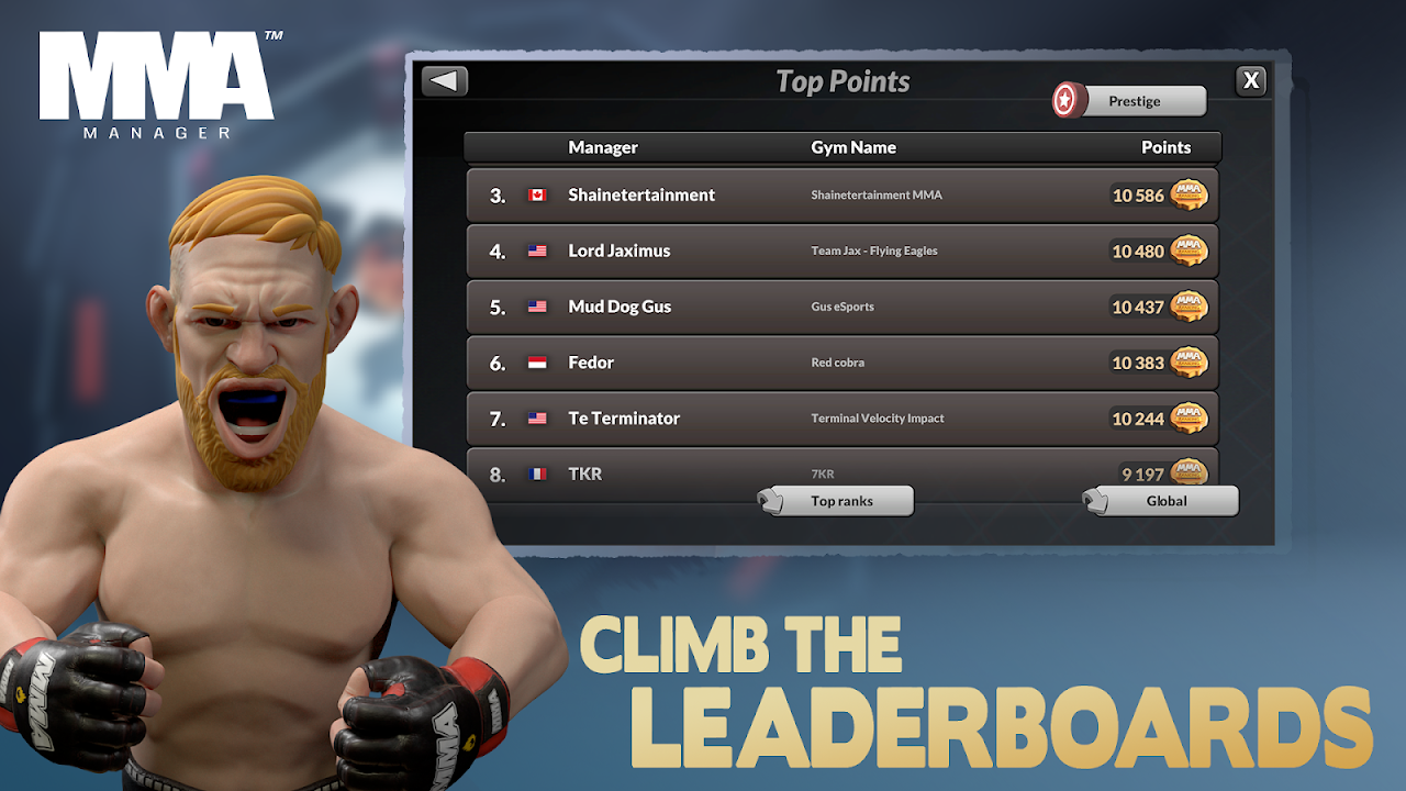 MMA Manager 0.8.4 Screen 4