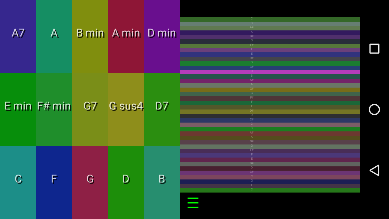 Android Color Autoharp Screen 1