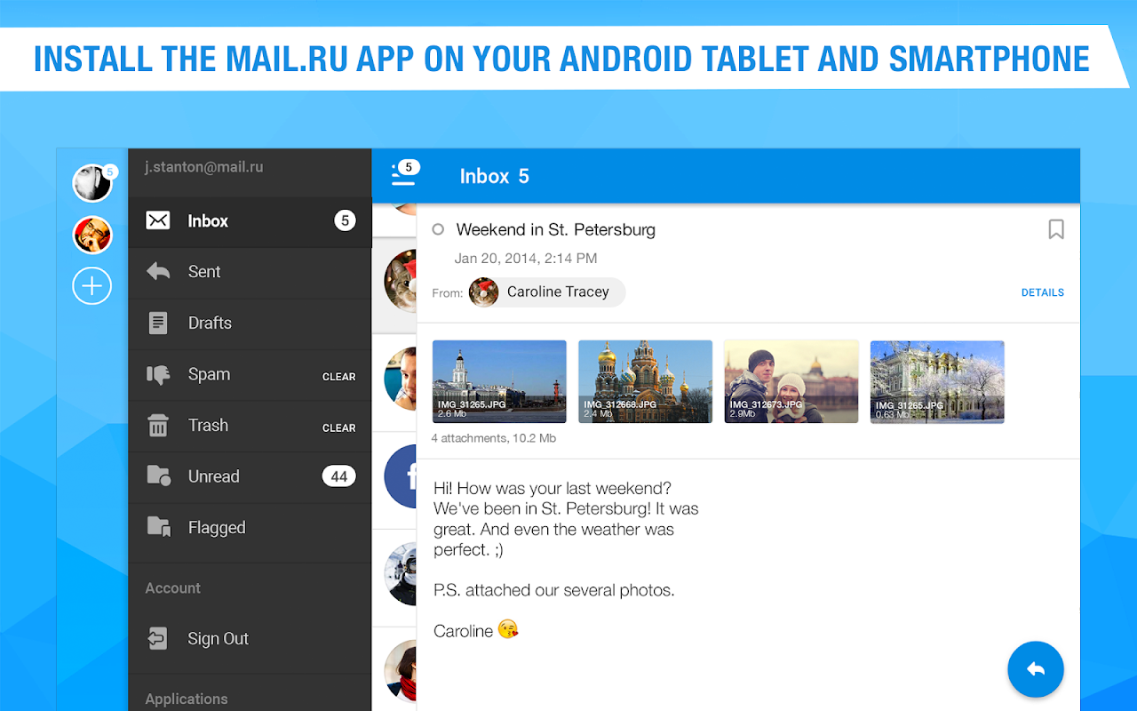 Mail.Ru - Email App 8.2.0.25646 Screen 6