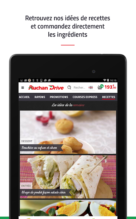 Android AuchanDrive - courses drive Screen 21