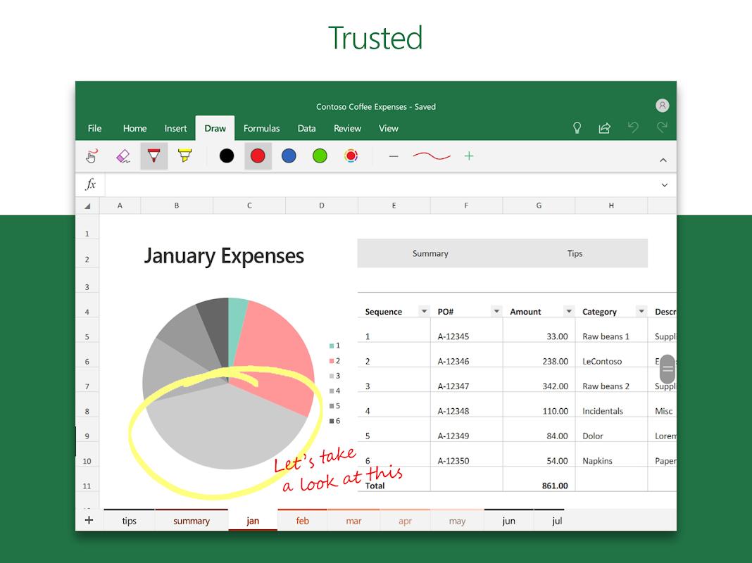 Microsoft Excel 16.0.11601.20074 Screen 9