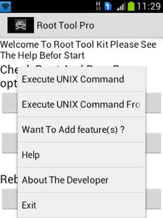 Android Root Tools Screen 1