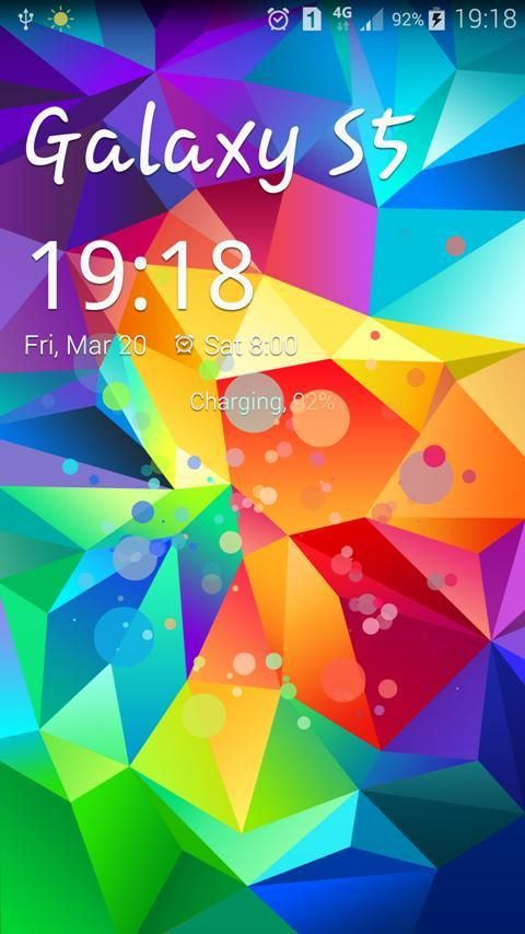 Android S5 Particle Locker Screen 1
