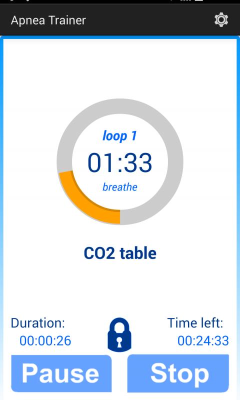 Android Apnea Trainer Screen 1