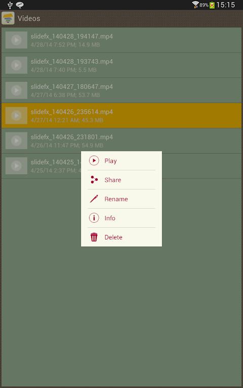 Android SlideFX Video Creator Screen 16