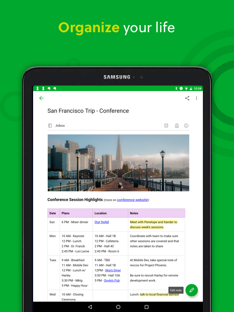 Android Evernote - stay organized. Screen 6