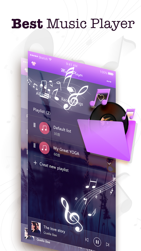 Android Music Player Screen 13