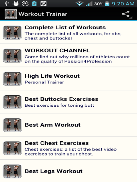 Android Workout Trainer Screen 16