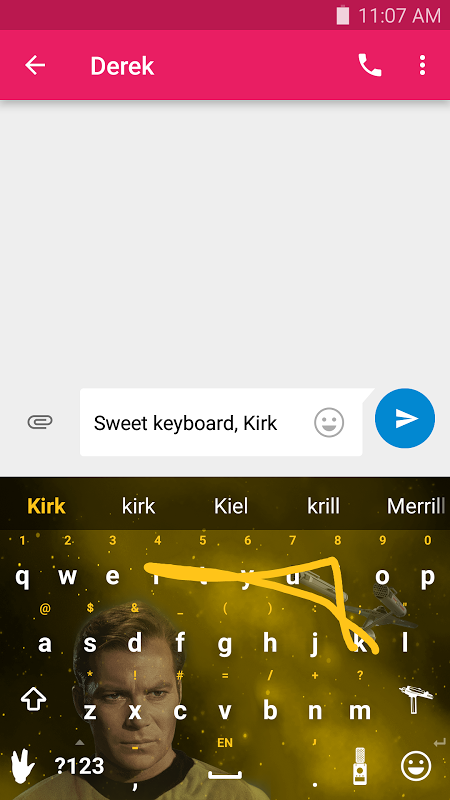 Android Swype Keyboard Screen 1