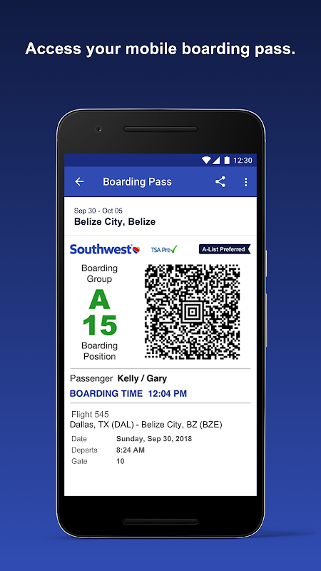 Southwest Airlines 5.6.1 Screen 4