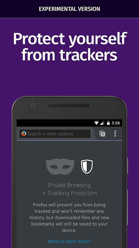 Android Firefox Nightly for Developers (Unreleased) Screen 2