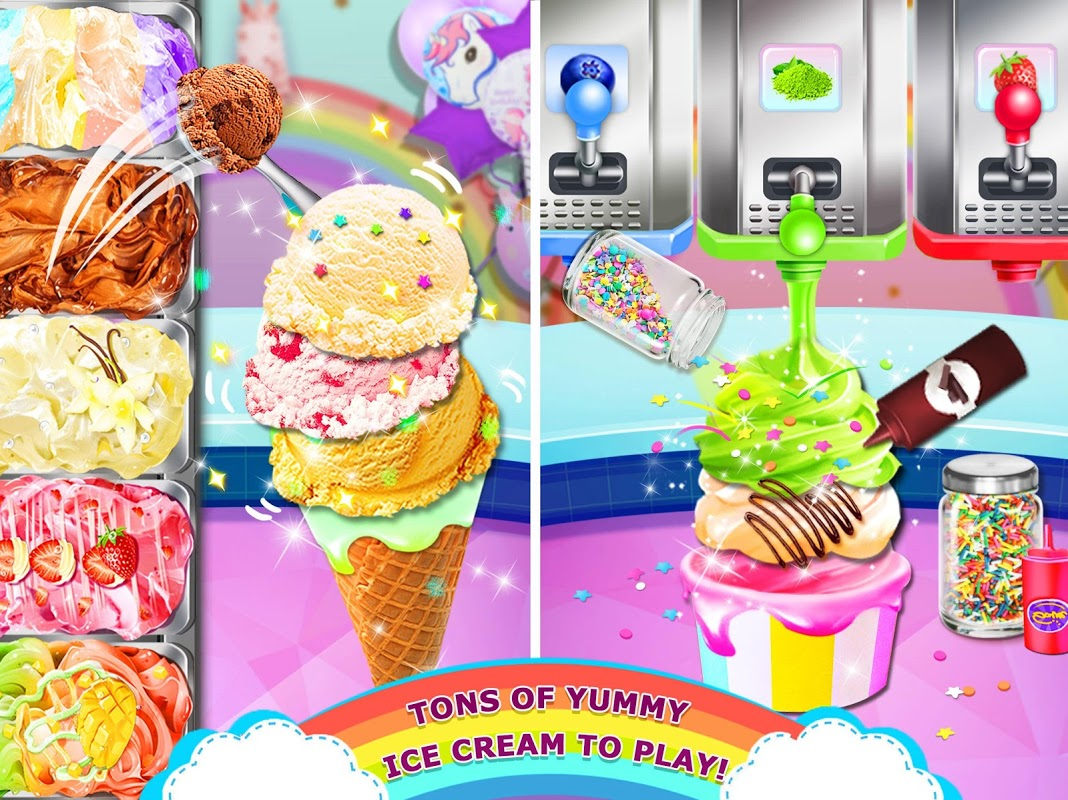 Rainbow Ice Cream - Unicorn Party Food Maker 1.0 Screen 3