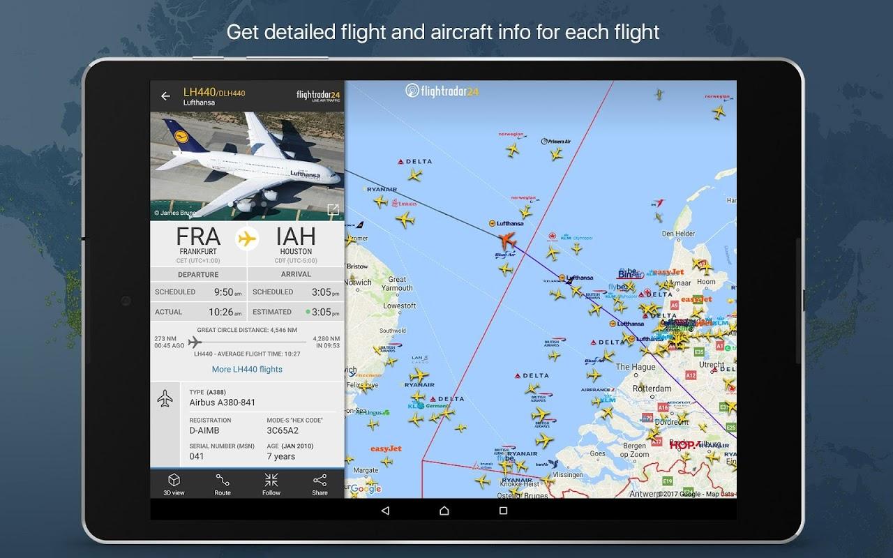 Android Flightradar24 Flight Tracker Screen 6