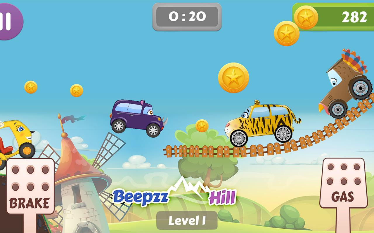 Beepzz Hill - racing game for kids 1.0.5 Screen 2