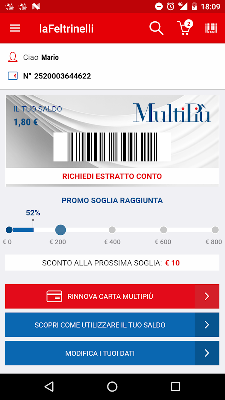 la Feltrinelli mobile 5.0 Screen 9