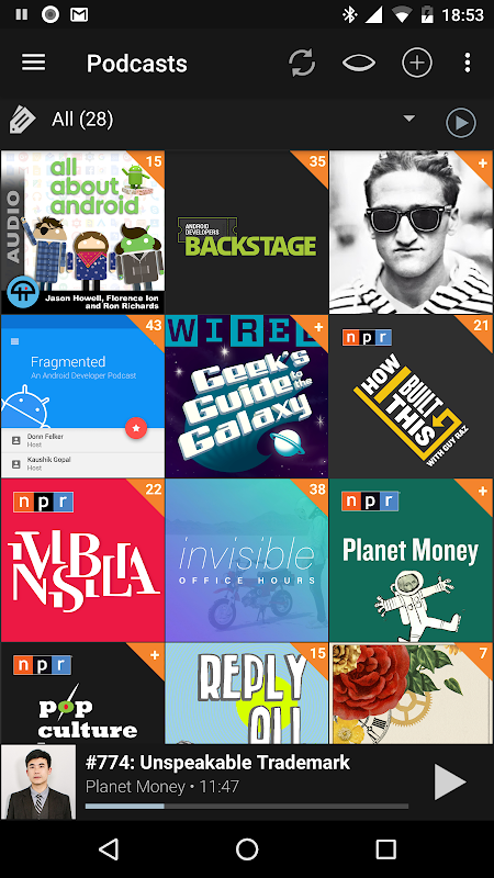 Podcast Addict 4.4 Screen 2